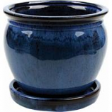 Southern Patio - Clayworks Wisteria Planter - Blue - 6 In