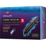 Aqueon Products-Supplies - Coralife Turbo-Twist Ultraviolet Sterilizer - 6 X / 18 Watt
