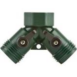 Melnor - Melnor 2 Hose Connector With Shut Off - Green -