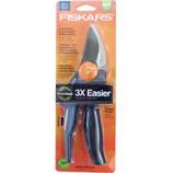 Fiskars Brands-Cutting - Power Gear Softgrip Bypass Pruner - Black/Orange - 10 Inch