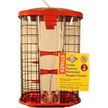 Classic Brands - Wb - Stokes Jumbo Squirrel Resistant Hopper Feeder - Red - 9.4 Lb