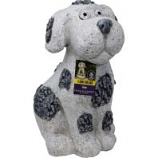 Alpine Corporation - Solar Slate Dog Garden Statue With Led Lights