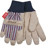 Kinco International - Lined Ultra Suede Knit Wrist Glove - Gray/Blue/Red - Youth