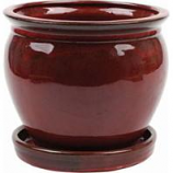 Southern Patio - Clayworks Wisteria Planter - Red - 12 In