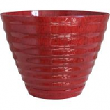 Southern Patio - Beehive Hdr Planter - Red - 16 Inch