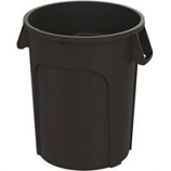 Hamburg/Nexstep Comm Prod - Maxi-Rough Trash Container - Black - 44 Gallon