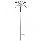 Panacea Products - Perching Birds Weathervane Shepherd Hook - Rust - 78 Inch