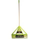 The Ames Company - Dual Tine Poly Leaf Rake - Green - 71 In