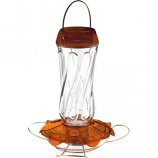 Droll Yankees - Classic Glass Oriole Feeder - Orange - 16Oz