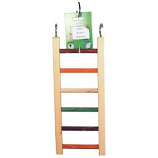 A&E Cage Company - Happy Beaks Wooden Hanging Ladder - Multicolored - 14 Inch