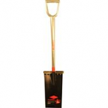 The Ames Company - All Steel Spade 13 Inch Blade D-Grip Handle - Red - 41.73 In