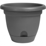 Bloem - Lucca Planter - Charcoal - 8 Inch