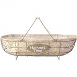 Panacea Products - Chicken Wire Basket Planter - Rust & Burlap - 22X11