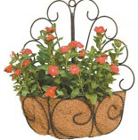 Deer Park Ironworks - Peacock Wall Basket With Coco Liner - Natural Patina