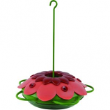 Natures Way Bird Prdts - So Real Mini 3D Flower Hummingbird Feeder - Red - 10 Oz