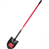 Bully Tool - Long Handle Round Point Shovel Fiberglass Handle -