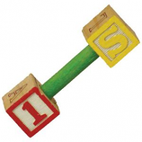 A&E Cage Company - Happy Beaks Pumping Letters Foot Toy - Multicolored