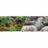 BLUE RIBBON PET PRODUCTS - BACKGROUND DOUBLE-SIDED RAINFOREST/BOULDERS--12IN X 50FT