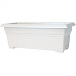 Novelty  - Countryside Patio Planter - White - 27 Inch