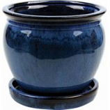 Southern Patio - Clayworks Wisteria Planter - Blue - 8 In