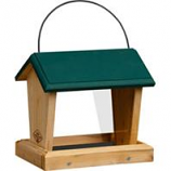 Welliver Outdoors - Hopper Feeder Cedar - Natural/Green - 10X7X9.25