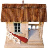 Songbird Essentials - Songbird Boat Shack Bird House - Brown/Tan - 7.6X5.6X7.6