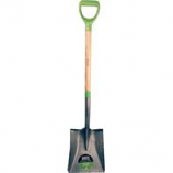 The Ames Company - Square Point Shovel With Ergo D-Grip Ash Handle - Green - 42.5 In