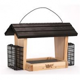Natures Way - Hopper Feeder With Suet Cages - Cedar - 6 Quart Cap