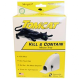 Motomco - Tomcat Kill & Contain Mouse Trap - White - 2 Pack