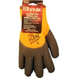 Boss Manufacturing - Flexi Grip Plus High-Vis Latex Palm - Orange - Large