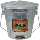 Audubon/Woodlink - Rustic Farmhouse Seed Storage Bucket W/Scoop - Galvanized - 25 Lb