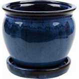 Southern Patio - Clayworks Wisteria Planter - Blue - 12 In