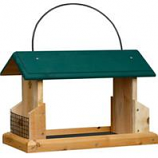 Welliver Outdoors - Open Air Feeder Deluxe Cedar With Suet Holders - Natural/Green -