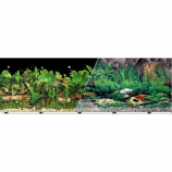 BLUE RIBBON PET PRODUCTS - BACKGROUND DOUBLE-SIDED TROPICAL FRESHWATER--12IN X 50FT