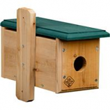 Welliver Outdoors - Bluebird House Cedar Horizontal - Natural/Green - 6.5X5.5X13