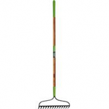 The Ames Company - 16-Tine Welded Bow Rake With Ash Handle - Green - 63 In