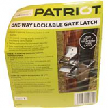 Tru-Test - Lockable Gate Latch One Way - Grey - 1 5/8 - 2