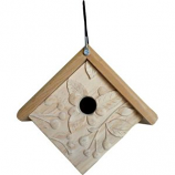 WELLIVER OUTDOORS - WELLIVER OUTDOORS CARVED ACORN WREN HOUSE-NATURAL-