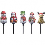 Coleman Cable  - Holiday Ceramic Stake Lights Floor Display - 16 Piece