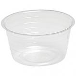 Bond Mfg - Deep Plastic Saucer - Clear - 8 Inch