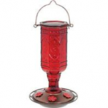 Classic Brands - Humming - Jewel Glass Hummingbird Feeder - Red - 20 Oz