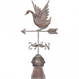 Southern Patio - Swan Weathervane - Bronze - 33.3 Inch