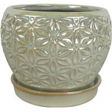 Southern Patio - Elora Planter - Pearl - 8 In