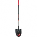 The Ames Company - Long Handle Round Point Shovel Fiberglass Handle - Red - 62.25 In