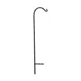 Hookery - Wrought Iron Crane - Black - 48 Inch