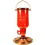 Classic Brands - Humming - Jug Glass Hummingbird Feeder - Red - 23 Oz