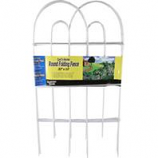 Garden Zone - Gard'N Border Round Folding Border Fence - White - 32 Inchx10 Foot