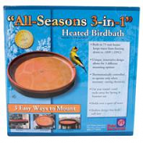 Farm Innovators-Wldbrd - All Seasons 3-In-1 Heated Birdbath - Terra Cotta - 75 Watt