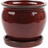 Southern Patio - Clayworks Wisteria Planter - Red - 8 In