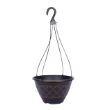 Southern Patio - Lacis Hanging Basket Planter - Brown - 12In